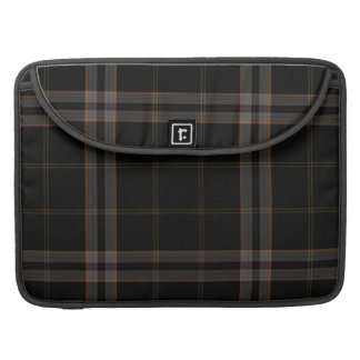 Black Grey Red Tartan Plaid Sleeve For MacBooks