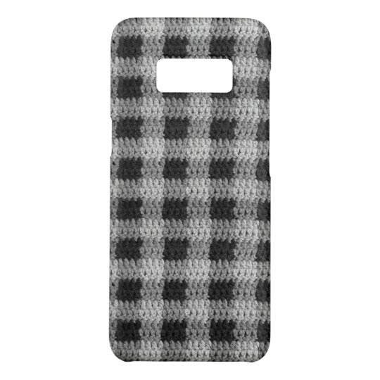 Black Grey Shades Gingham Plaid Pattern Crochet Case-Mate Samsung Galaxy S8 Case