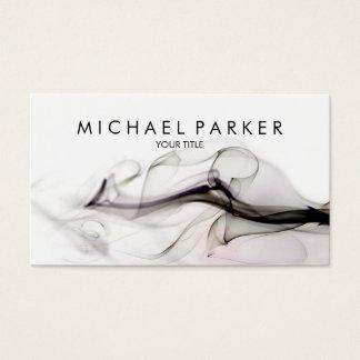 Black Grey Smoke Abstract Business Card
