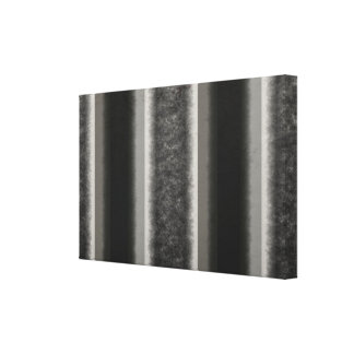 Black grey striped texture gallery wrapped canvas