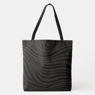 BLACK & GREY SWIRL DESIGN WOMEN'S TOTE BAG