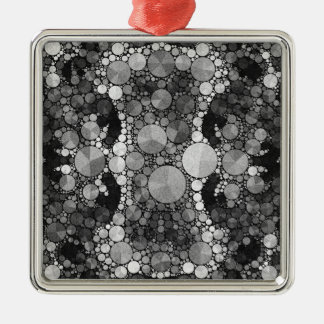 Black Grey Textured Silver-Colored Square Decoration