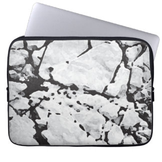 Black, Grey & White Abstract Laptop Sleeve