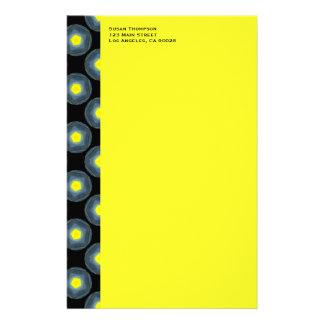 black grey yellow pattern customized stationery