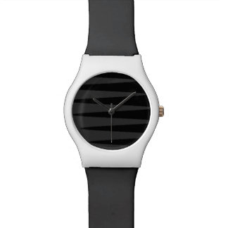 Black Grey Zigzag Watch