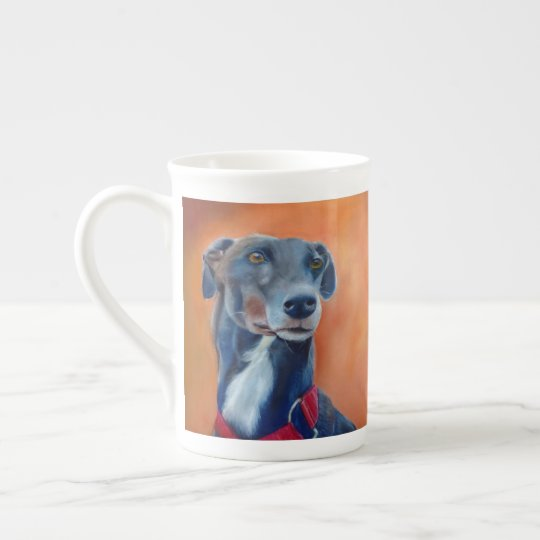 Black greyhound (a398) tea cup