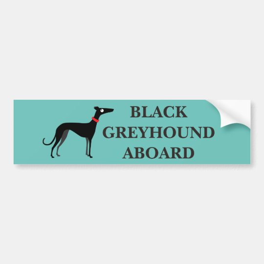 Black greyhound aboard bumper sticker