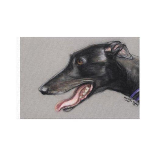 Black Greyhound Dog Art Canvas Print