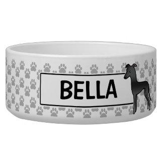 Black Greyhound / Whippet Cartoon Dog