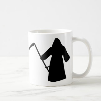 black grim reaper death icon coffee mug