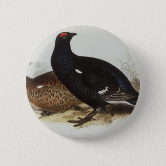 Black Grouse 6 Cm Round Badge