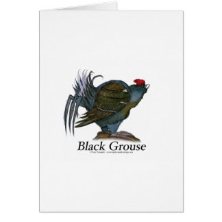 Black Grouse bird, tony fernandes Card