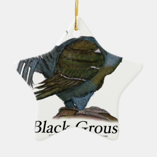 Black Grouse bird, tony fernandes Christmas Ornament