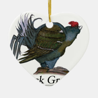 Black Grouse bird, tony fernandes Christmas Ornament