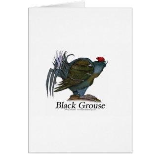 Black Grouse bird, tony fernandes Greeting Card