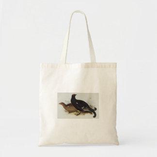 Black Grouse Budget Tote Bag