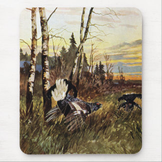 Black Grouse Mating Display Mouse Pad