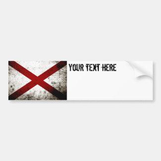 Black Grunge Alabama State Flag Bumper Sticker