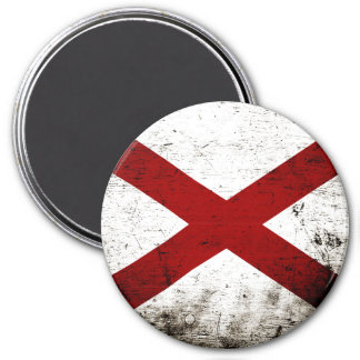 Black Grunge Alabama State Flag Magnet