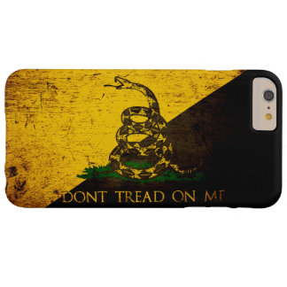 Black Grunge Anarcho Gadsden Flag Barely There iPhone 6 Plus Case