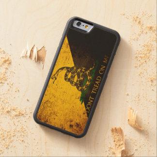 Black Grunge Anarcho Gadsden Flag Maple iPhone 6 Bumper Case