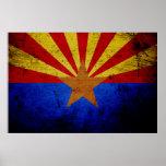 Black Grunge Arizona State Flag