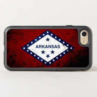 Black Grunge Arkansas State Flag OtterBox Symmetry iPhone 7 Case