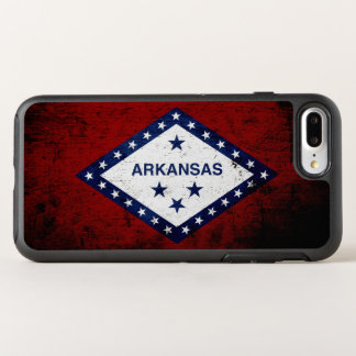 Black Grunge Arkansas State Flag OtterBox Symmetry iPhone 7 Plus Case
