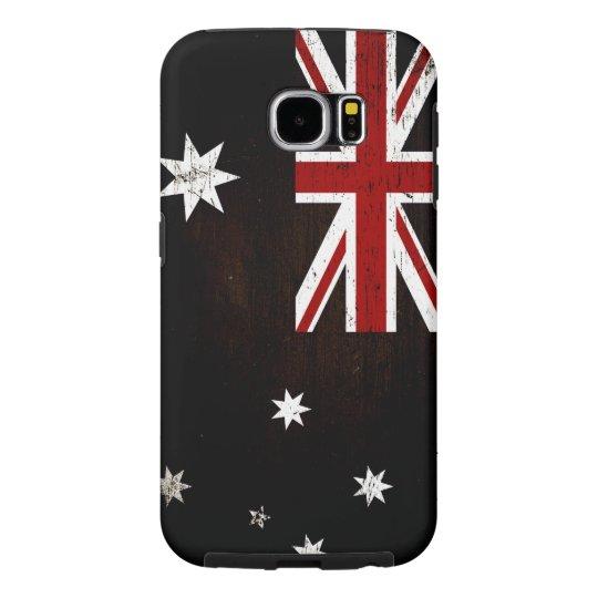 Black Grunge Australia Flag 2 Samsung Galaxy S6 Cases
