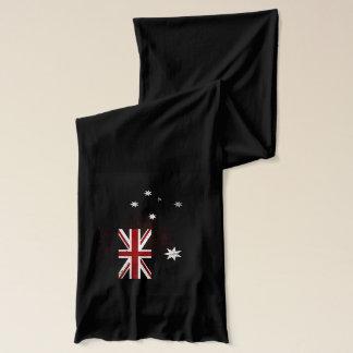 Black Grunge Australia Flag 2 Scarf