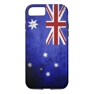Black Grunge Australia Flag iPhone 8/7 Case