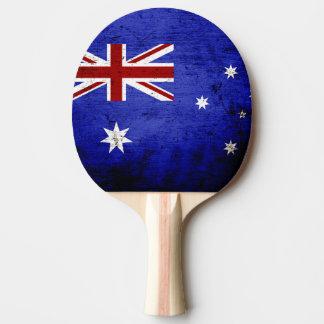 Black Grunge Australia Flag Ping Pong Paddle