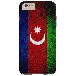 Black Grunge Azerbaijan Flag Tough iPhone 6 Plus Case