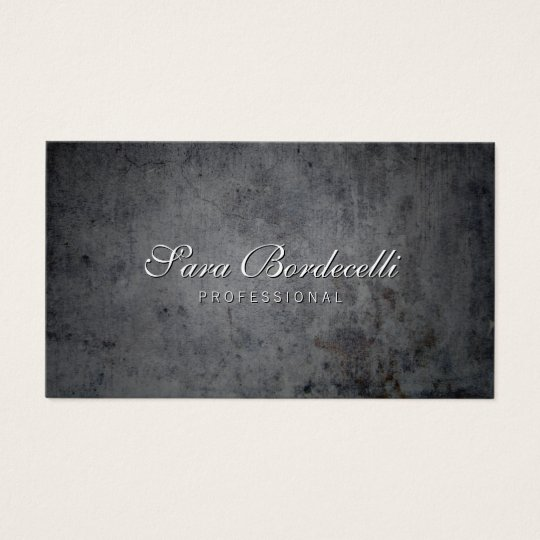 Black Grunge Background Professional Business Card