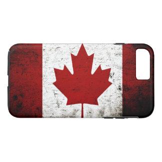 Black Grunge Canada Flag iPhone 7 Plus Case