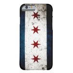 Black Grunge Chicago Flag Barely There iPhone 6 Case