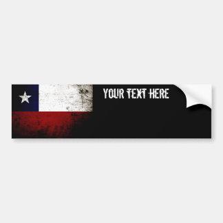 Black Grunge Chile Flag Bumper Sticker