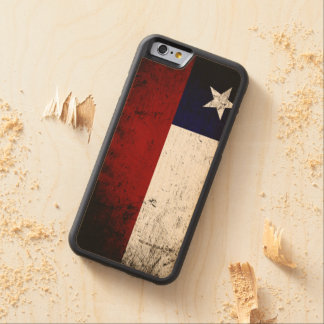 Black Grunge Chile Flag Carved Maple iPhone 6 Bumper Case