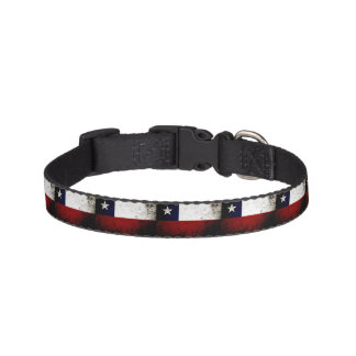 Black Grunge Chile Flag Pet Collar