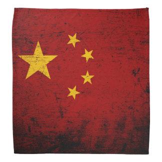 Black Grunge China Flag Bandana