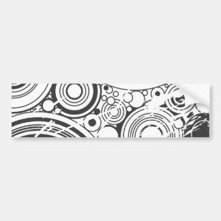 Black Grunge Circles: Vector Art: Bumper Sticker