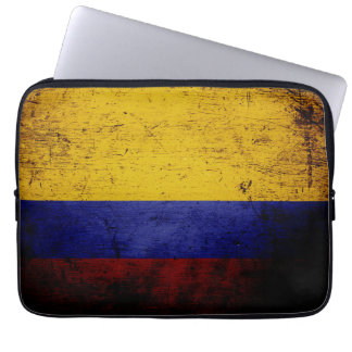 Black Grunge Colombia Flag Computer Sleeves