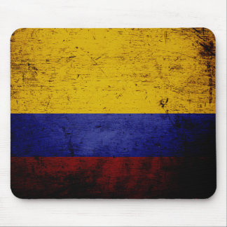Black Grunge Colombia Flag Mouse Mat