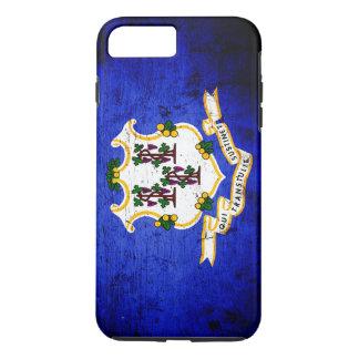 Black Grunge Connecticut State Flag iPhone 7 Plus Case