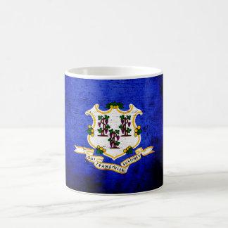 Black Grunge Connecticut State Flag Mug