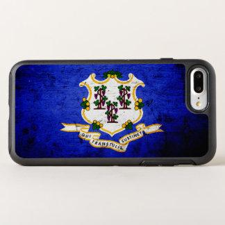 Black Grunge Connecticut State Flag OtterBox Symmetry iPhone 7 Plus Case