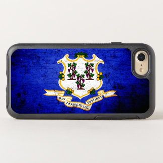Black Grunge Connecticut State Flag OtterBox Symmetry iPhone 8/7 Case
