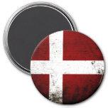 Black Grunge Denmark Flag