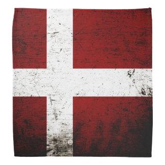 Black Grunge Denmark Flag Bandana