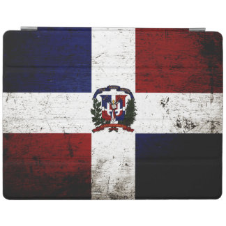 Black Grunge Dominican Republic Flag iPad Cover